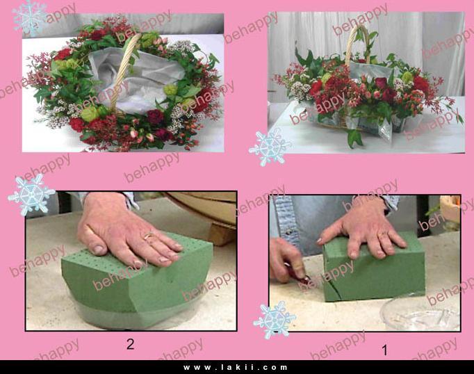 لتزيين السفرة او المطبخ سلة فاكهة وورد من صنع ايديكي Behappy_3qSBPby