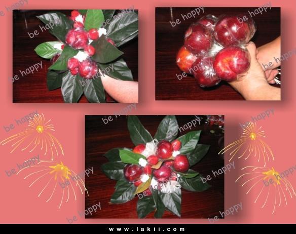 لتزيين السفرة او المطبخ سلة فاكهة وورد من صنع ايديكي Behappy_4gV0SfY