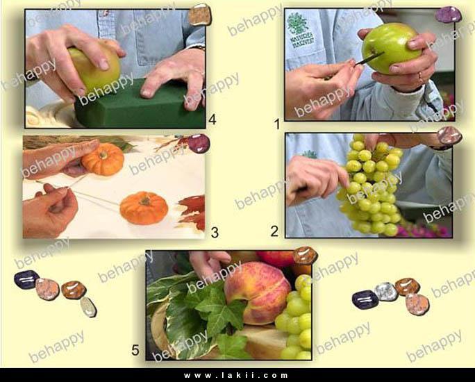 لتزيين السفرة او المطبخ سلة فاكهة وورد من صنع ايديكي Behappy_4xl3NEw