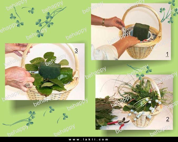 لتزيين السفرة او المطبخ سلة فاكهة وورد من صنع ايديكي Behappy_59fYH3i