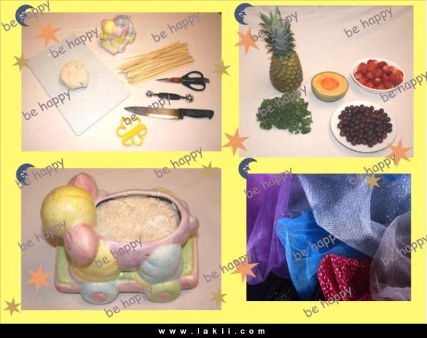 لتزيين السفرة او المطبخ سلة فاكهة وورد من صنع ايديكي Behappy_5uWF2gD