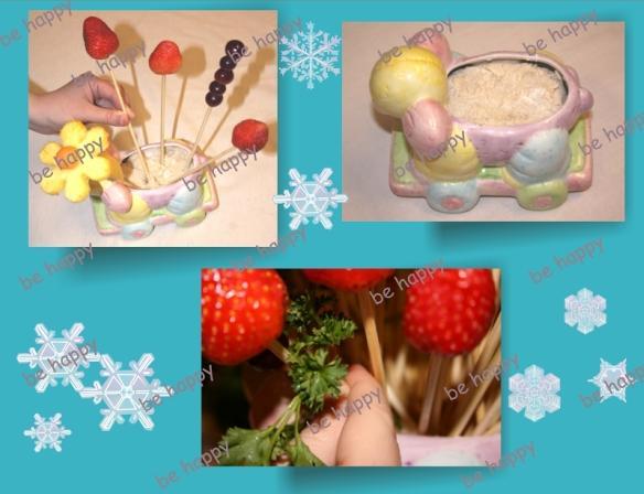 لتزيين السفرة او المطبخ سلة فاكهة وورد من صنع ايديكي Behappy_7RFK7QI