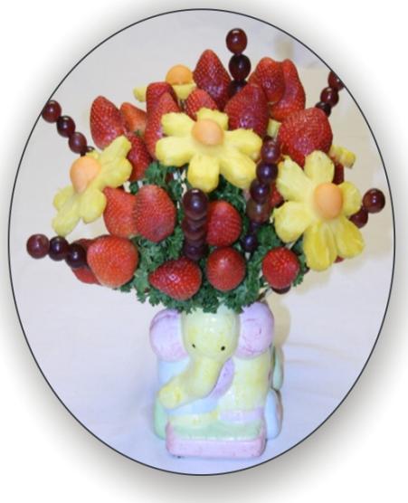لتزيين السفرة او المطبخ سلة فاكهة وورد من صنع ايديكي Behappy_8I16tH4